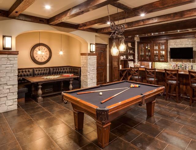 wild ginger billards bar area classique sous sol chicago par ed saloga design build. Black Bedroom Furniture Sets. Home Design Ideas