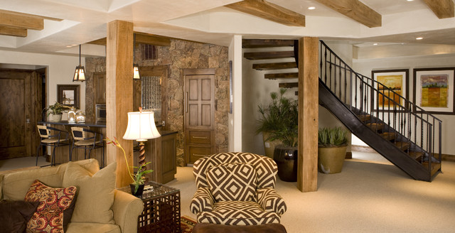 Wildflower Basement and Wine Cellar eclectic-basement