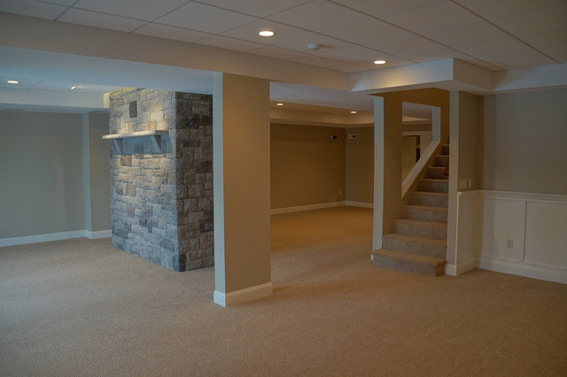 Windam Nh Basement Finish Traditional Basement Manchester By Mackinnon Construction