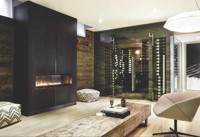 Wine area contemporary-basement