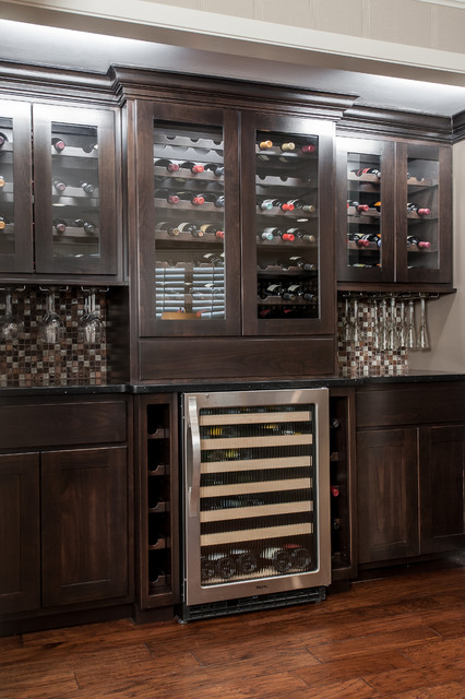 wine bar remodel st louis - Built In Wine Fridge