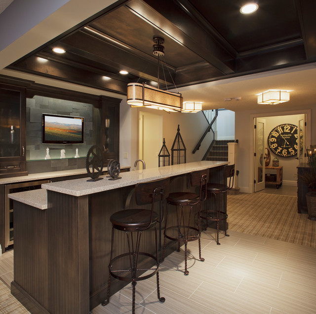 Woodbine Showhome in Timberline Estates traditional-basement