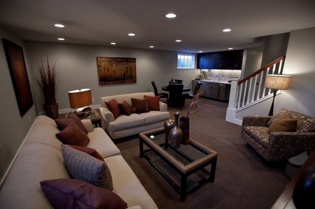 York Lower Level contemporary basement