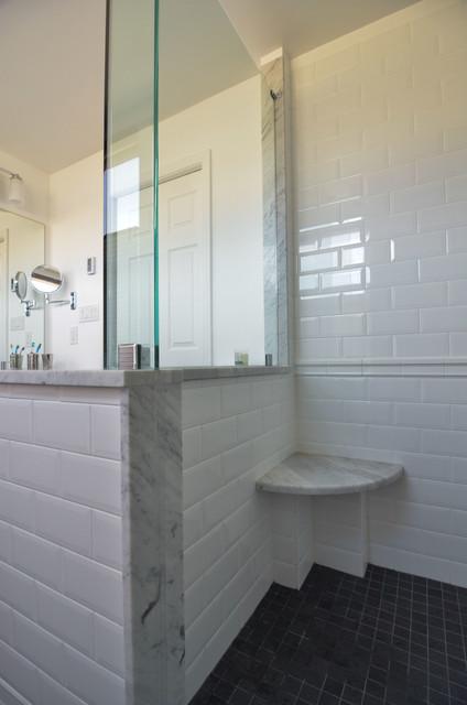 1 x 1 gray shower floor tile modern bathroom for Bathroom tile philadelphia