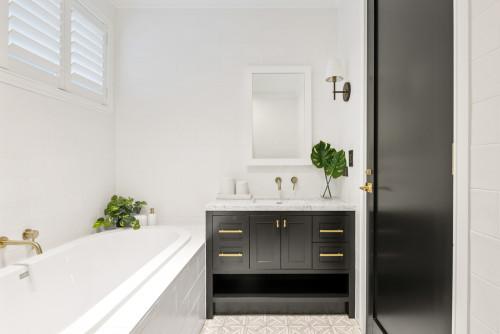 built in bath hamptons style bathroom