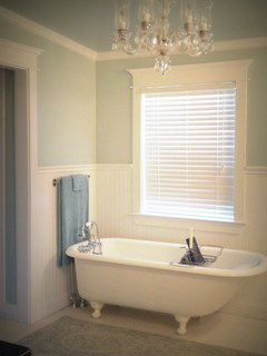 100 year old house renovation traditional bathroom dallas by hopkins designs - Change your old bathroom to traditional bathrooms ...