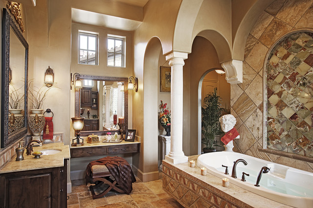 110 Golden Bear mediterranean-bathroom