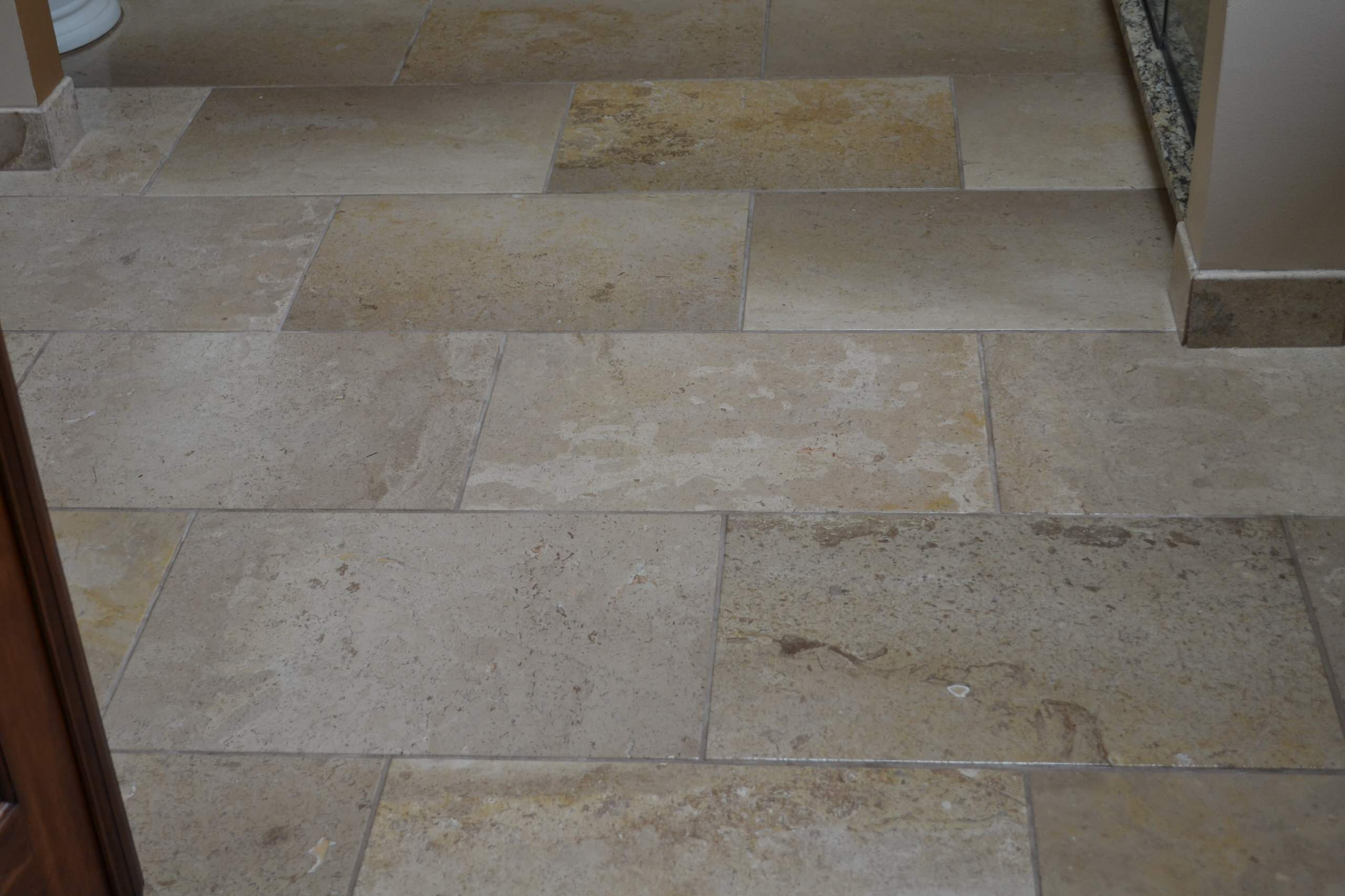 12 x 24 tumbled travertine floor