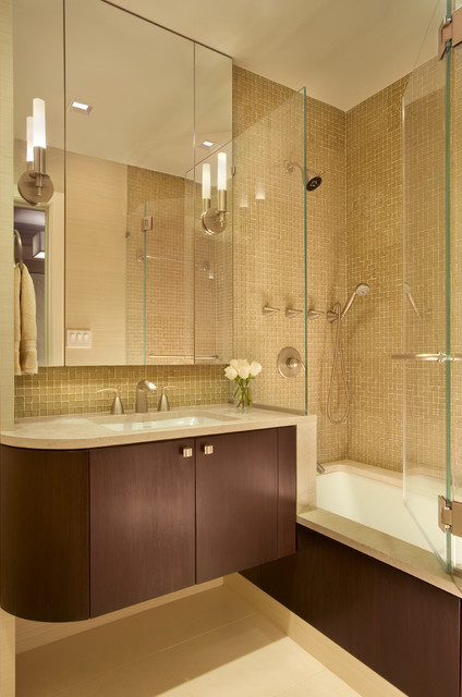 128 Central Park South - Contemporary - Bathroom - New York - by Ethelind Coblin Architect P.C