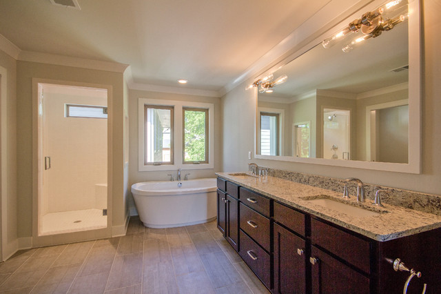 12south transitional modern craftsman bathroom for Modern craftsman interiors