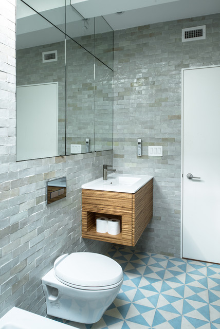 Jane Kim Design Industrial Bathroom