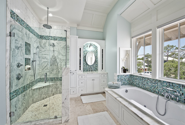 Master bedroom design with bathroom - 155 Bluejack St Watercolor Fl Traditional Bathroom