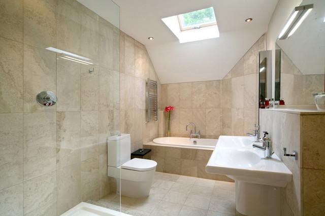 17th Century Rebuild Remodel Contemporary Bathroom
