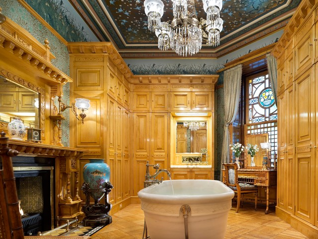 1880s Brownstone Traditional Bathroom New York By