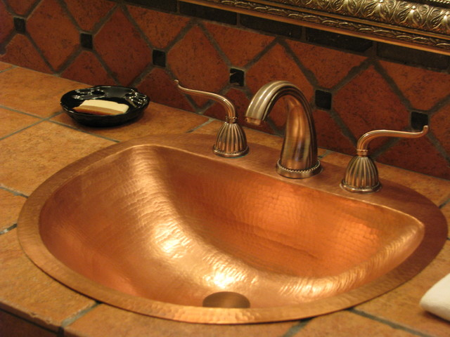 Rustic Bathroom Sinks : Bathroom Sinks - Rustic - Bathroom Sinks - seattle - by Copper Sinks ...