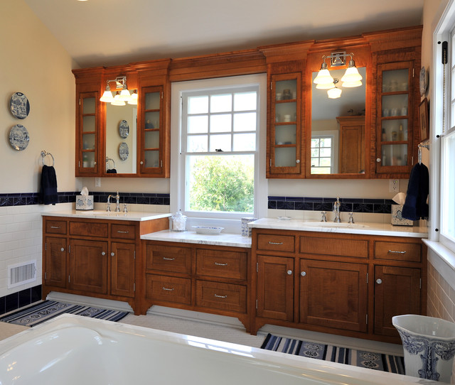 1915 Colonial Revival Addition Traditional Bathroom