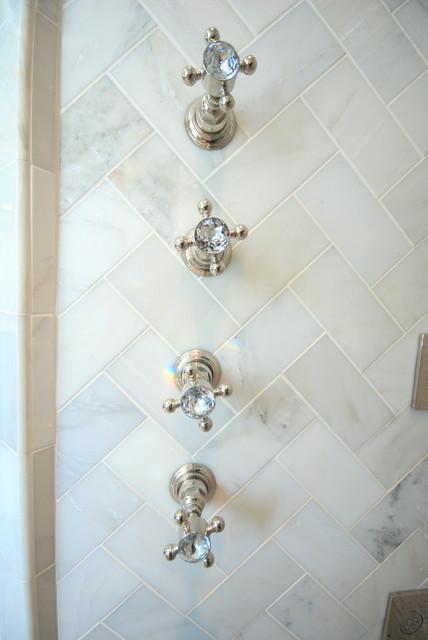 1920 39 s tudor master bath made into a romantic escape for Tudor bathroom design