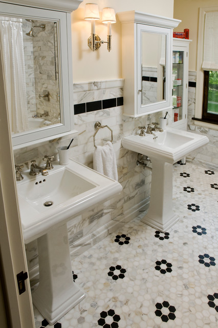 1920s Mediterranean Rehab - Traditional - Bathroom - chicago - by Jenna Wedemeyer Design, INC.