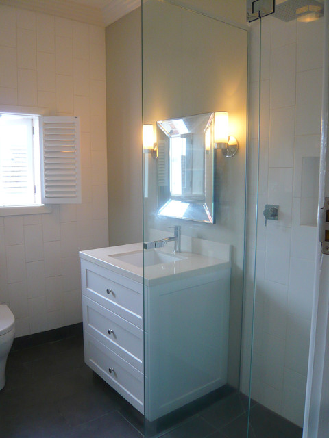 1930 39 s art deco apartment modern bathroom melbourne for 1930 s bathroom decor