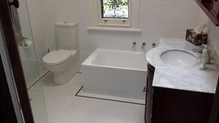 1930 39 s bathroom renovation. Black Bedroom Furniture Sets. Home Design Ideas