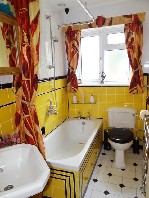 1930s Art Deco bathroom - Midcentury - Bathroom ...