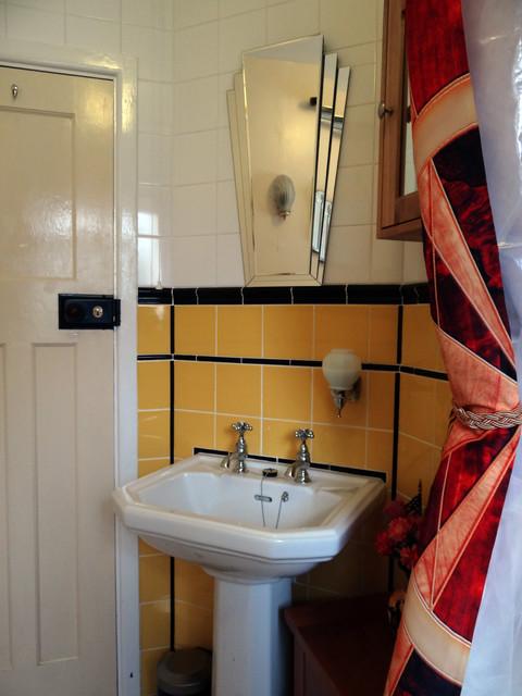 1930s art deco influenced small bathroom midcentury bathroom south west. Black Bedroom Furniture Sets. Home Design Ideas