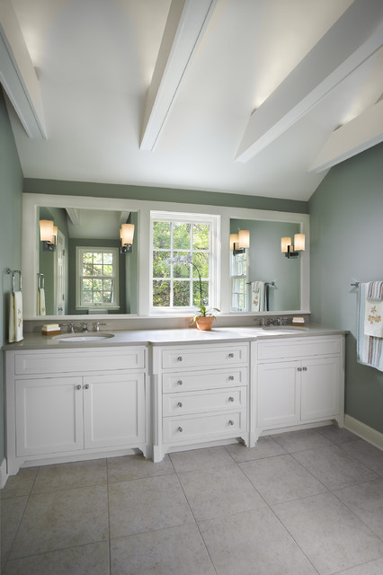 1940 S Colonial Revival Remodel Master Bath Traditional