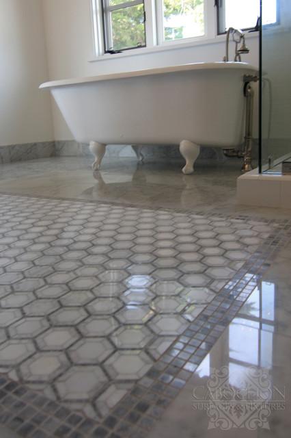 1940 39 s traditionally spanish la jolla traditional for Spanish tile bathroom floor