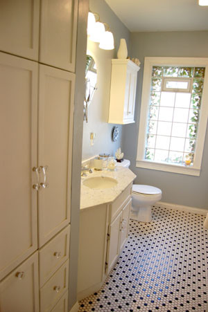 1950's bungalow bathroom remodel