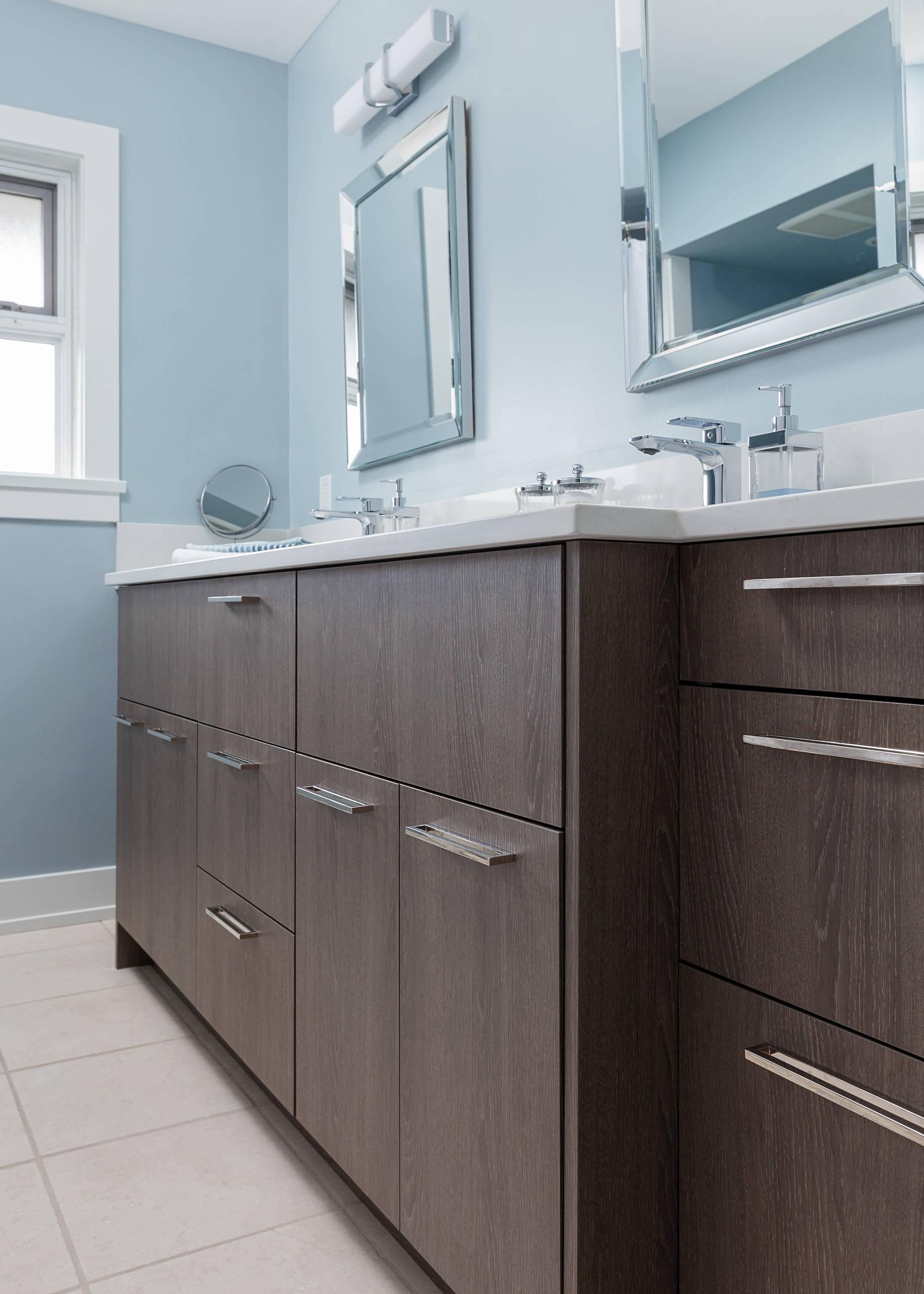 1950 S Split Level Contemporary Renovation Contemporary Bathroom Vancouver By Cottage Fever Interior Design Houzz