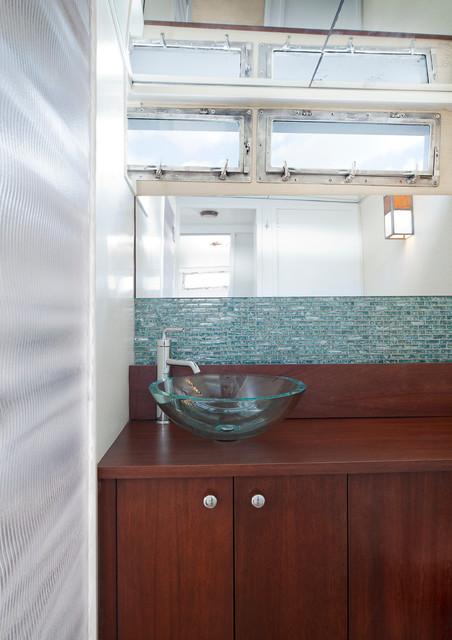 Anthony Michael Interior Design Ltd Designers Decorators 1969 Chris Craft Commodore Contemporary Bathroom