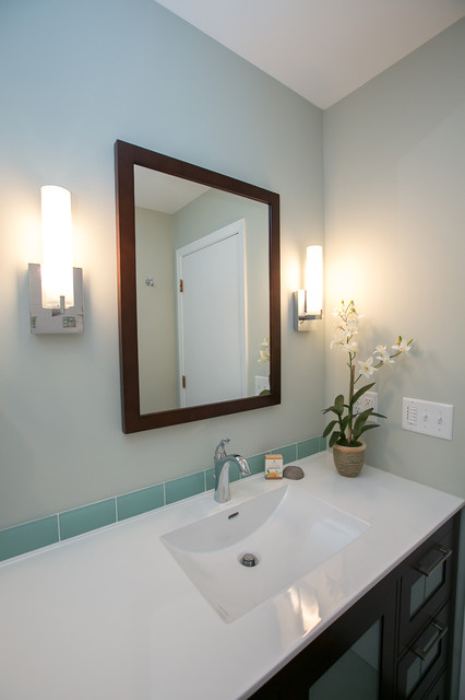 1970's Ranch General Bath with Modern Transformation ...