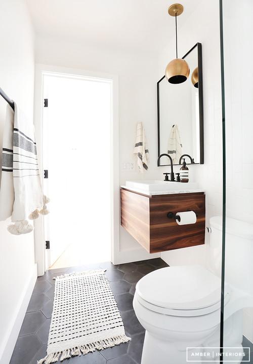 banheiro Decoração Escandinava