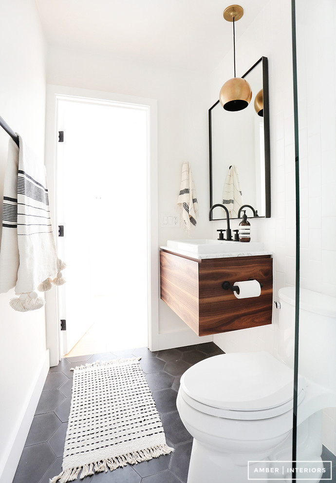 Inspiration for a scandi bathroom in Los Angeles.