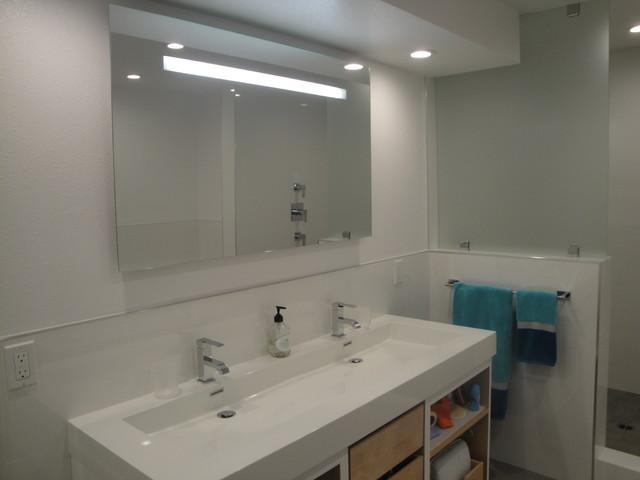 2  All White Modern Bathrooms contemporary-bathroom