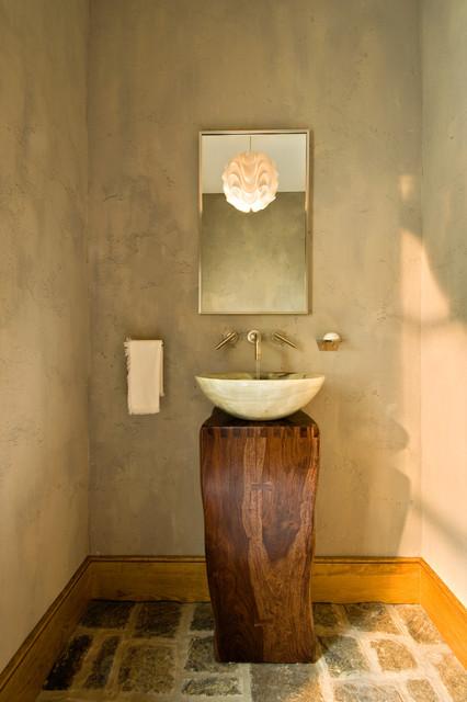 2011 Showcase Hillside Retreat Rustic Bathroom