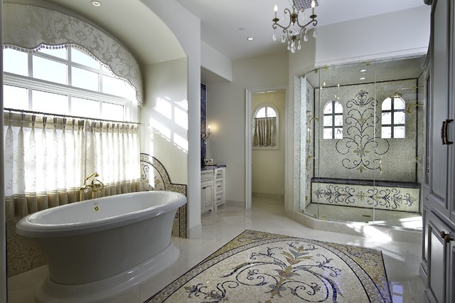 Master Bath eclectic bathroom