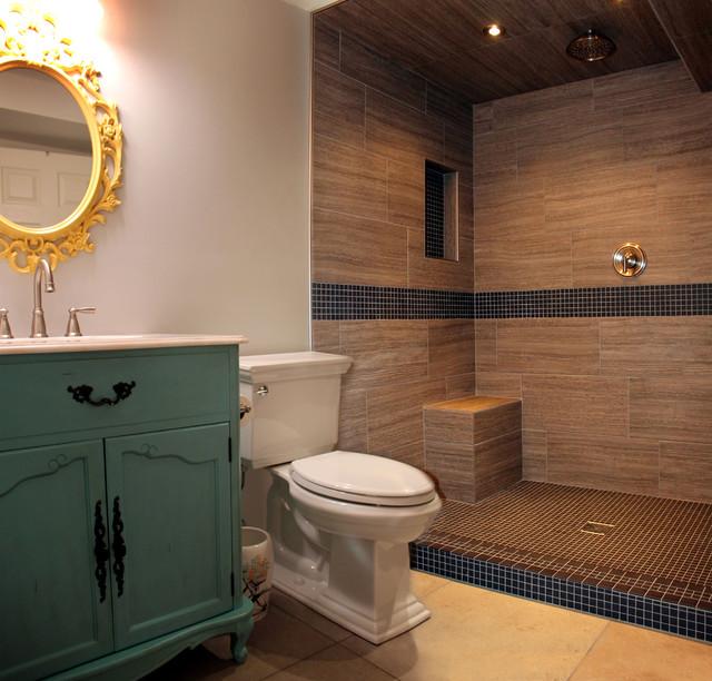 2012 Crystal Lake Basement Bathroom eclectic-bathroom
