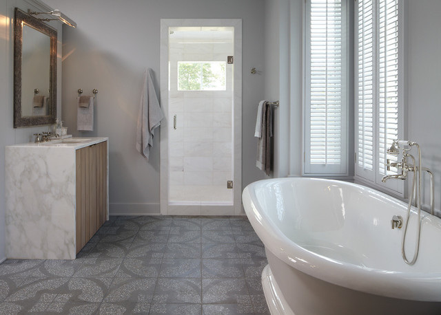 Simple Spacious And Modern Bathroom In East Nashville  Masterful Bathrooms