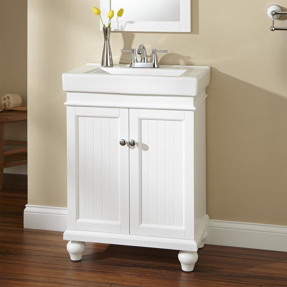 24 Lander Vanity Cabinet White Contemporary Bathroom Cincinnati By Signature Hardware Houzz
