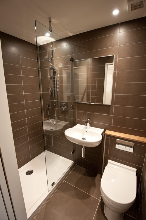 Baño Moderno Pequeno:Small Bathroom Shower Design Ideas