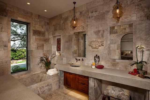 270-Degree View Ocean Villa mediterranean-bathroom
