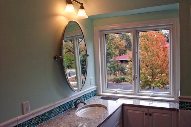 3 Daughters, 1 Bath: Getting the Most out of a Small Space traditional-bathroom