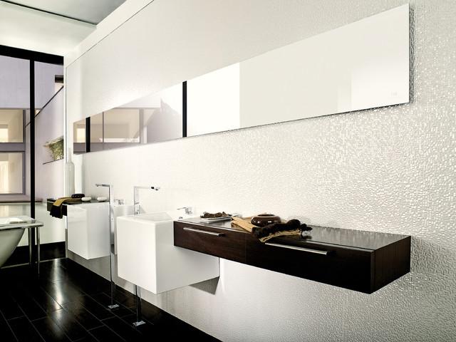 3 Dimensional Feature Tiles Cubica Blanco Contemporary Bathroom