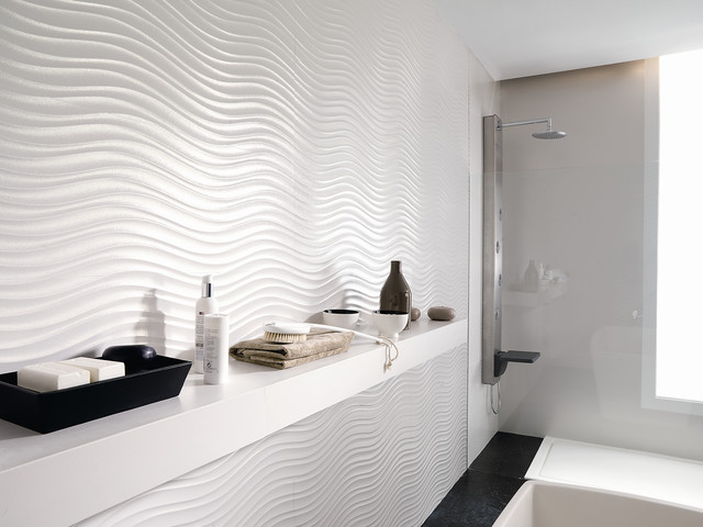 Dimensional feature tiles qatar nacar contemporaneo stanza