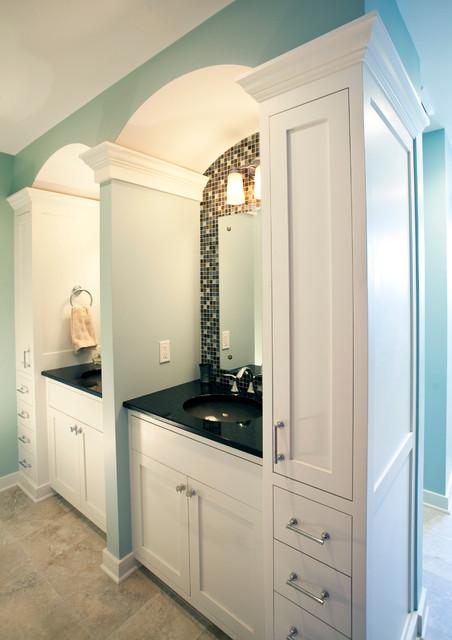 3 funky bathrooms traditional bathroom minneapolis for Funky bathroom wallpaper ideas