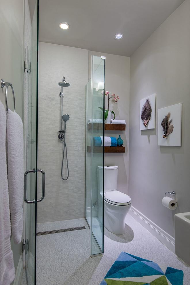 3 Piece Ensuite Guest Bathroom Beach Style Bathroom New York By B R Nelson Designs Llc