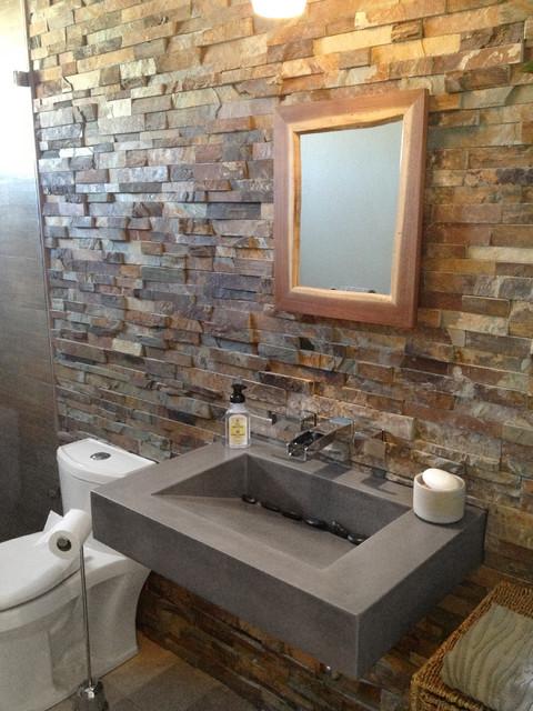 30 ADA Floating Concrete Bathroom Sink Contemporary