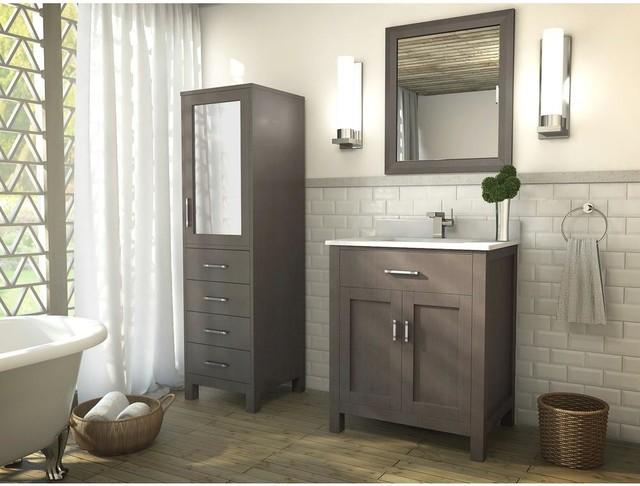 30 Inch Bathroom Vanity French Gray