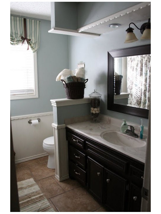 Half Wall Bathroom Design Ideas Pictures Remodel And Decor
